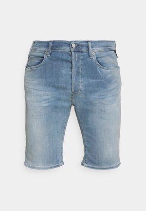 HYPERFLEX - Denim shorts - medium blue