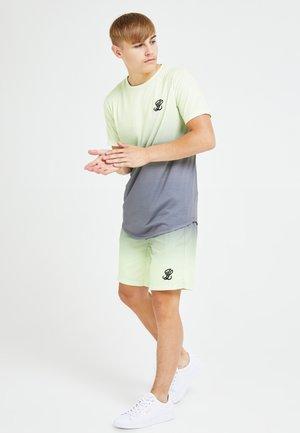 BLAZE FADE  - T-shirt print - dark grey  lime