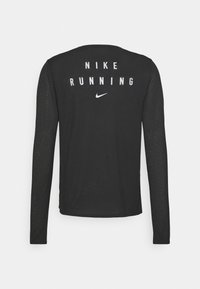 Nike Performance - Nike RUN Division Miler - Sports shirt - black/reflective silver