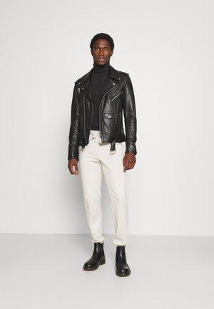 2 PACK - Long sleeved top - light grey/black