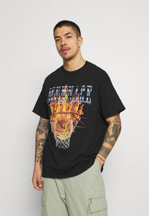BURNING HOOP - T-shirt imprimé - black