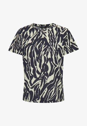 SLSALLIE  - Print T-shirt - zebra strokes blue