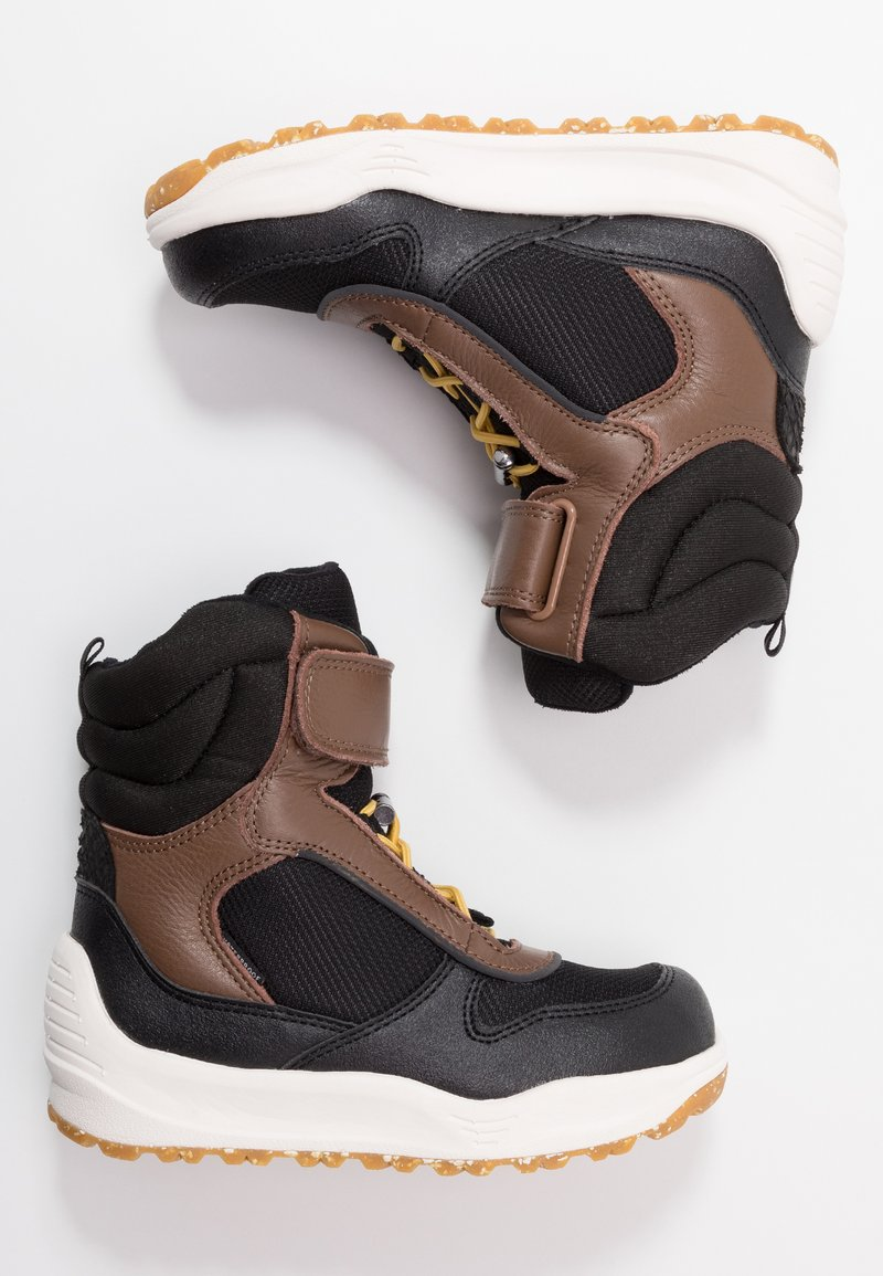 Woden - MALIK MIDCUT WATERPROOF - Stivali da neve  - brown/grey