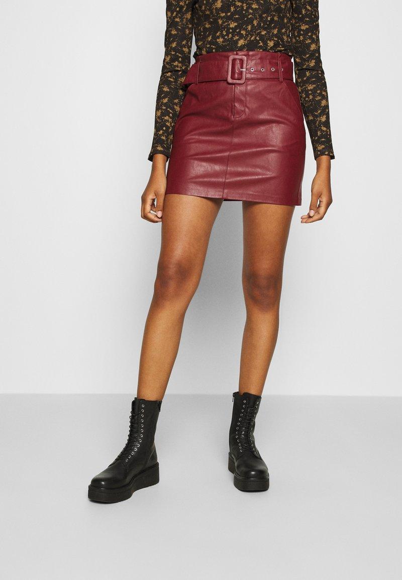 ONLY - ONLJESSIE SKIRT - Mini skirt - fired brick
