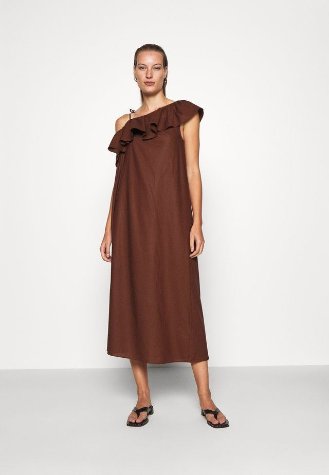 DRESS - Sukienka letnia - brown dark