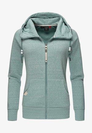 Zip-up sweatshirt - dusty green