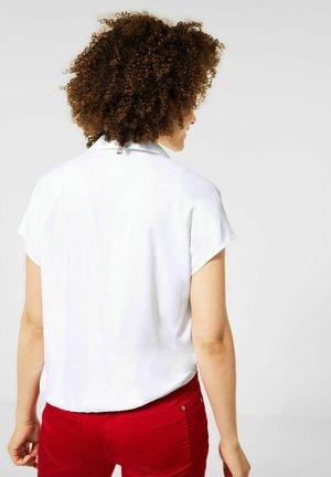 MIT KNOTEN DETAIL - Button-down blouse - weiß