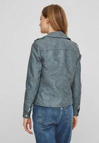 Vero Moda - VMWORLD SHORT - Faux leather jacket - dark blue - 1