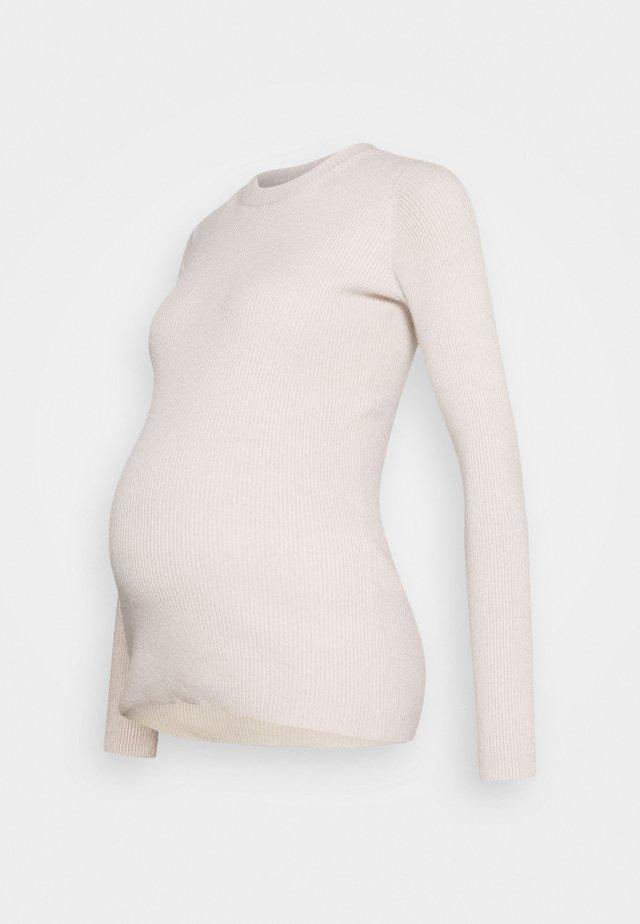 PCMBASSY O NECK  - Sweter - beige
