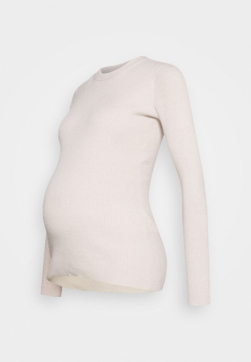 Pieces Maternity - PCMBASSY O NECK  - Jumper - beige