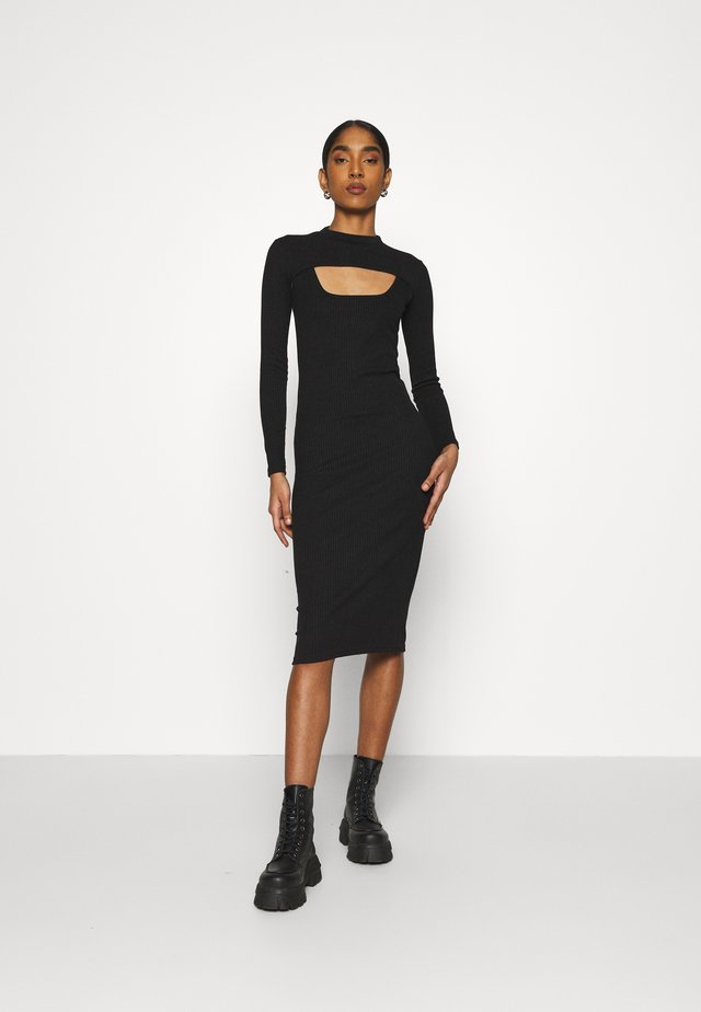 FONTEYN 2-IN-1 - Sukienka etui - black