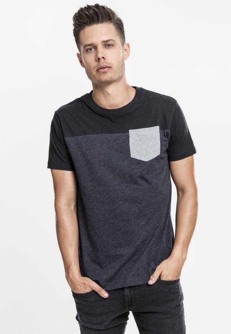 Urban Classics - Print T-shirt - grey/black