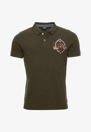 SUPERSTATE  - Polo shirt - black/olive grit