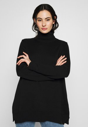 LEYLA TURTLE KNIT WMN L/S - Jumper - dark black