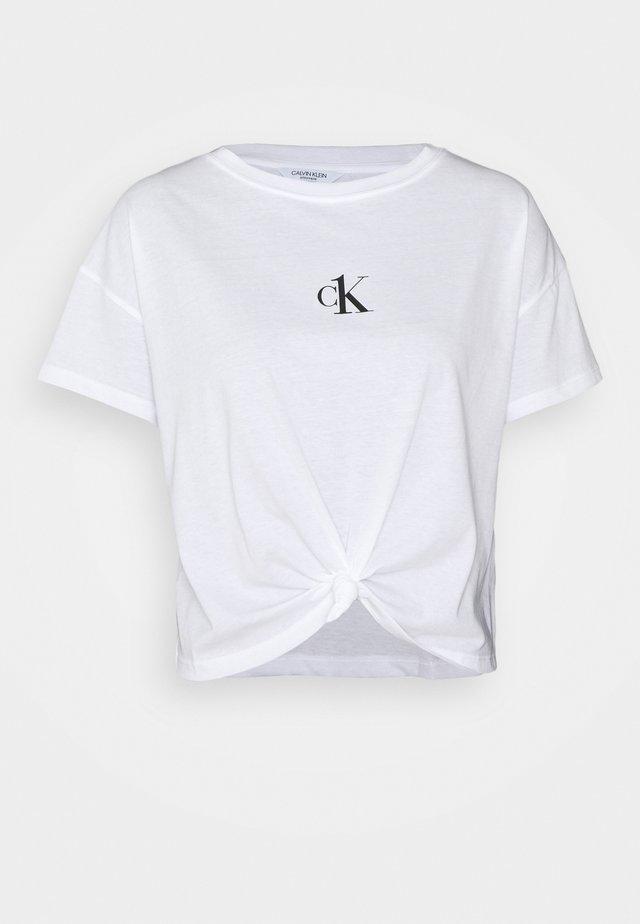 CROPPED - Koszulka do spania - classic white