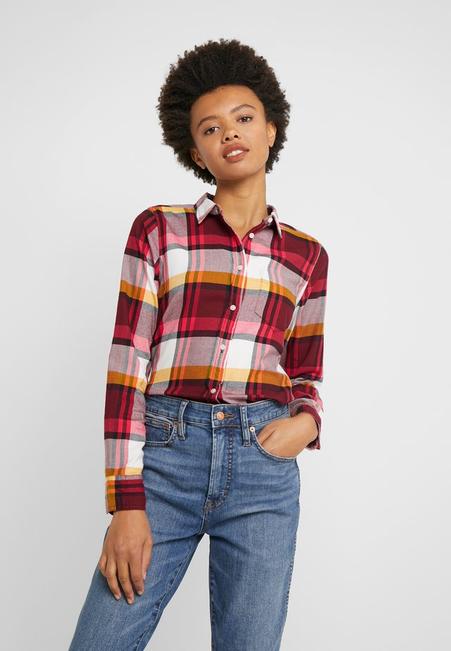 BOY PACEY PLAID - Paitapusero - burgundy rose