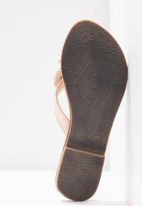 Lazamani - T-bar sandals - nude - 6