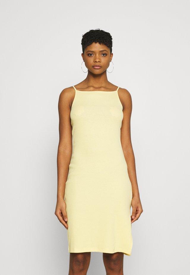 Jersey dress - light yellow