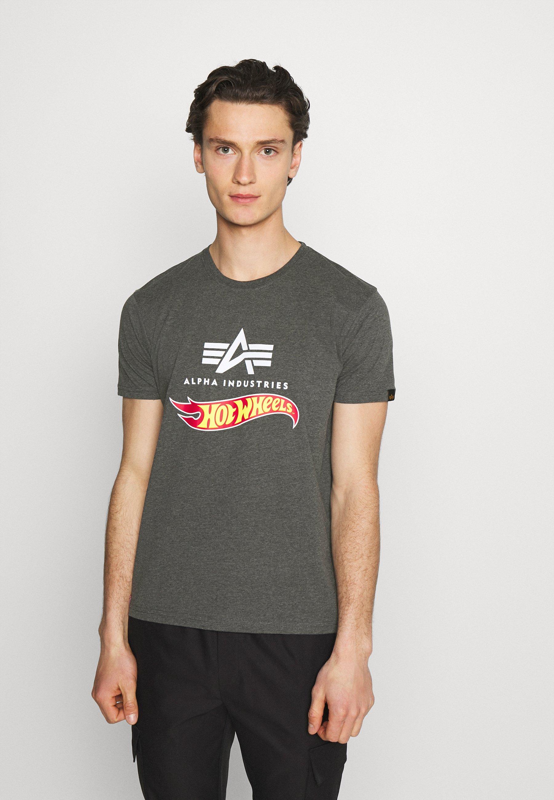 Men HOT WHEELS FLAG  - Print T-shirt