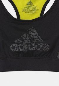 adidas Performance - LEO - Sports bra - black/acid yellow/grey five - 2