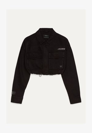 IM UTILITY-STIL - Džínová bunda - black