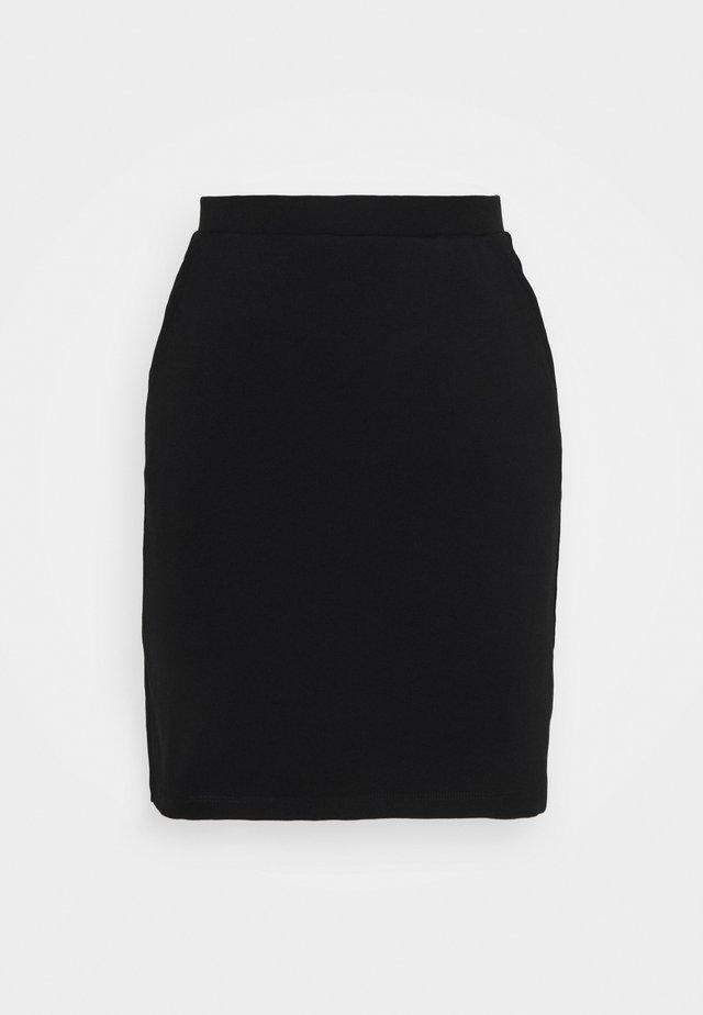 BASIC - Mini skirt with pockets - Minijupe - black
