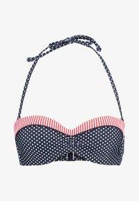 s.Oliver - DELETION LIST  - Bikini top - navy/white - 4