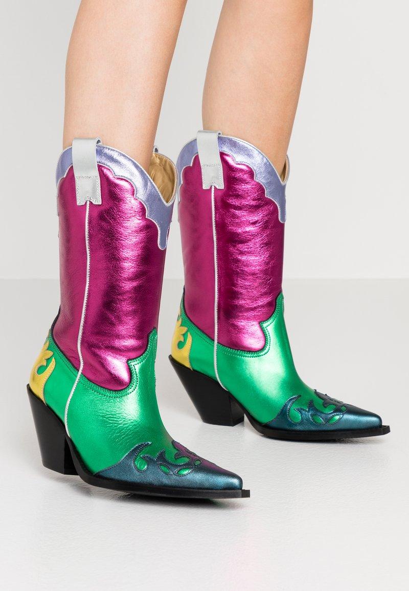 Toral - Cowboy/Biker boots - multicolor/pink/green