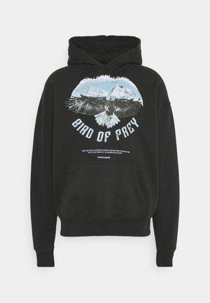 EAGLE OVERSIZED HOODIE UNISEX - Sweatshirt -  washed black