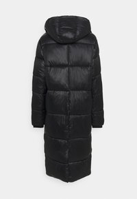 Missguided Tall - MAXI SHINE HOODED PUFFER - Winter coat - black - 1