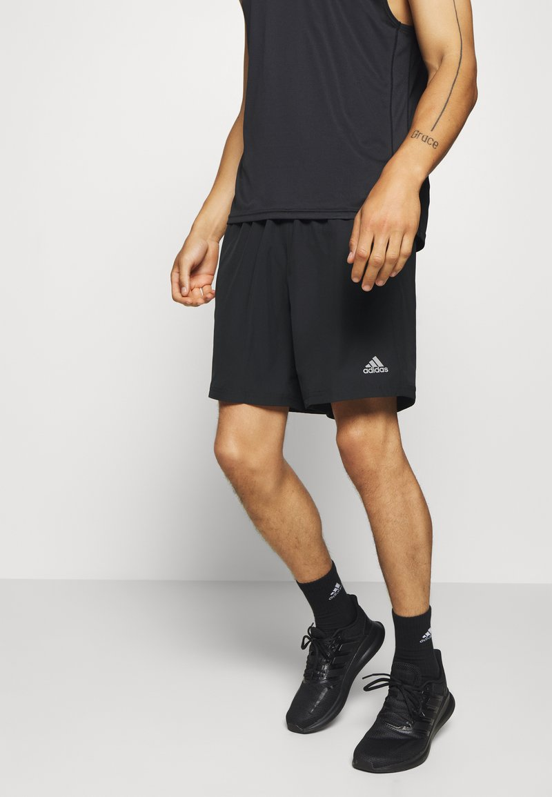 adidas Performance - RUN IT SHORT - Sportovní kraťasy - black