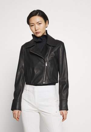 VISONE - Leather jacket - schwarz