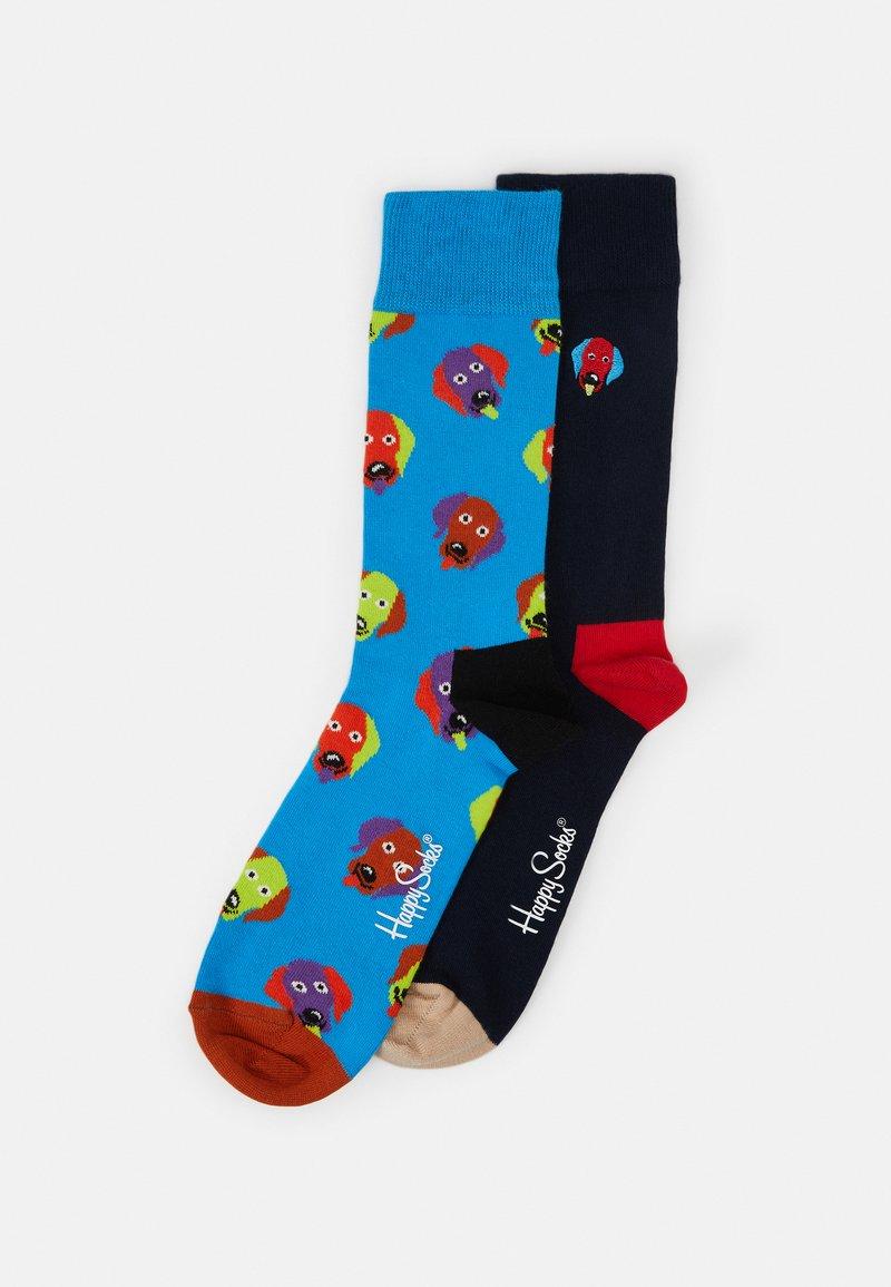 Happy Socks - EMBROIDERY DOG SOCK UNISEX 2 PACK - Socks - multi