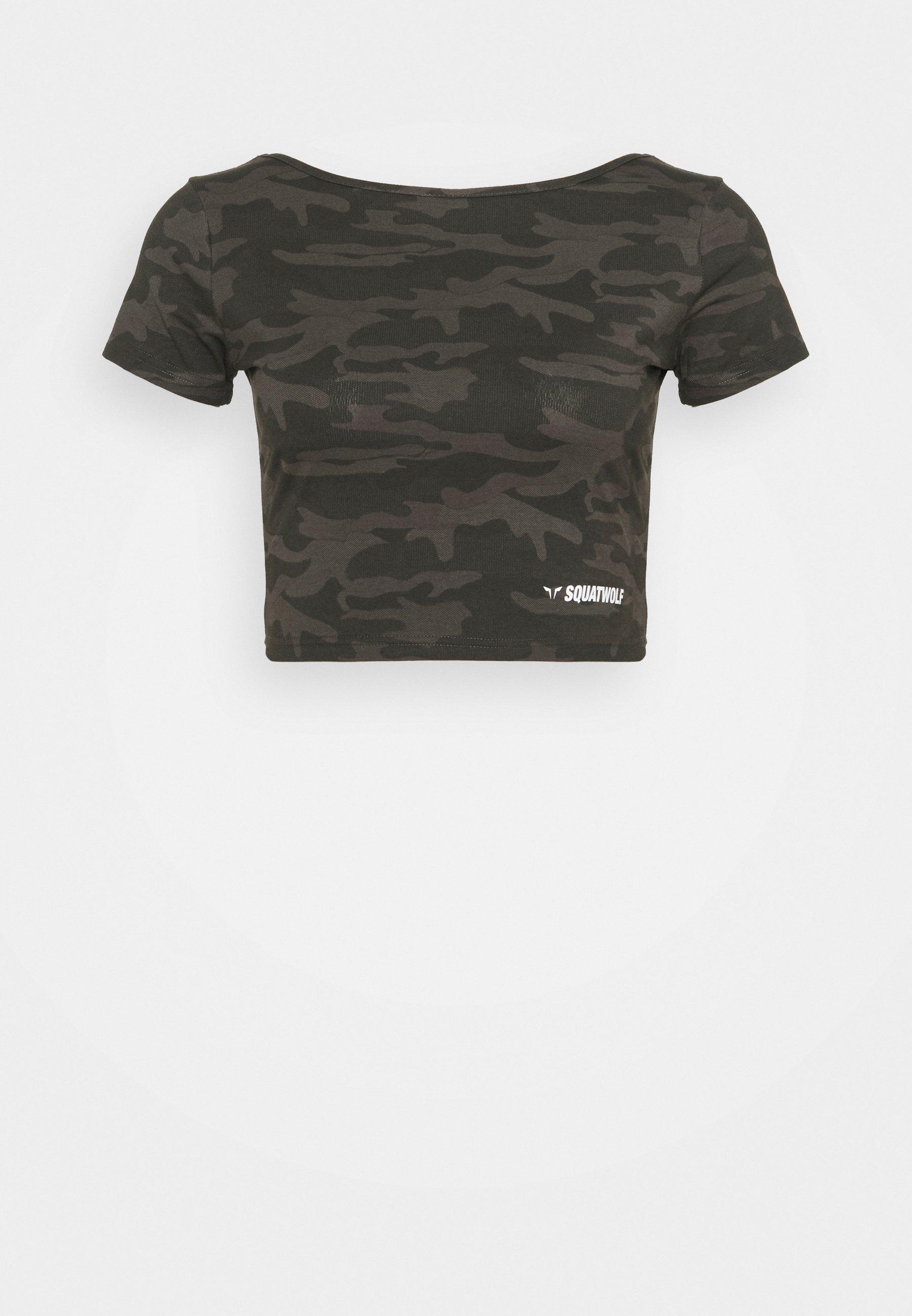 Femme WARRIOR CROP TEE SHORT SLEEVES - T-shirt imprimé