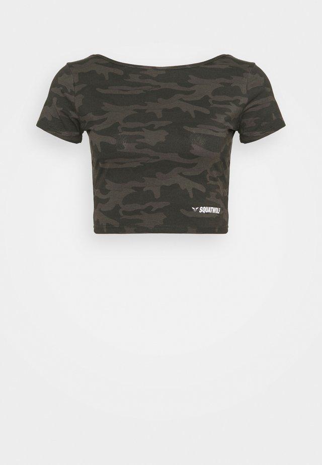 WARRIOR CROP TEE SHORT SLEEVES - T-shirt print - black