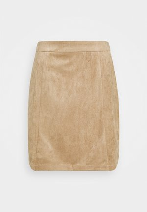 Mini skirt - beige