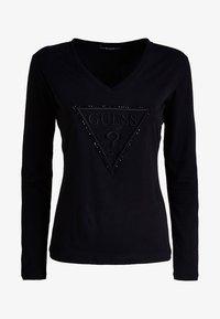 Guess - VORNE - T-shirt à manches longues - black - 0
