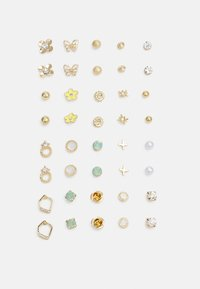 Pieces - PCQUEENY EARSTUDS KEY 20 PACK - Earrings - gold-coloured - 0
