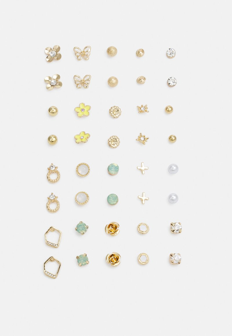 Pieces - PCQUEENY EARSTUDS KEY 20 PACK - Earrings - gold-coloured