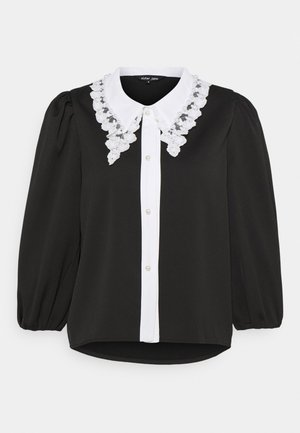 COLLAR BLOUSE - Chemisier - black