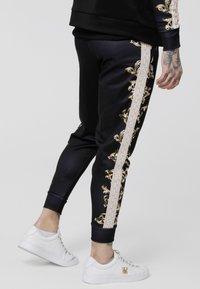 SIKSILK - CUFFED PANTS - Tracksuit bottoms - black/white/gold - 2