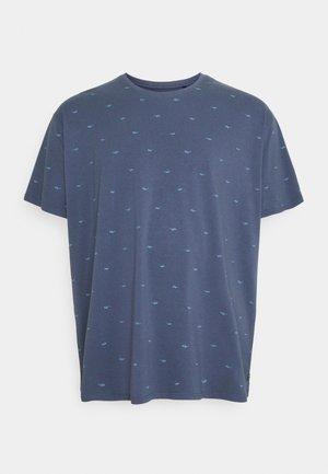 Print T-shirt - stone blue
