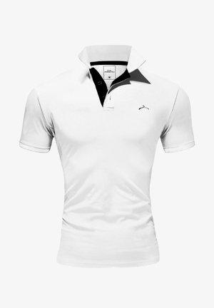 Polo shirt - weiß/schwarz