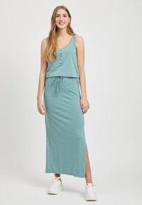 Object - OBJSTEPHANIE MAXI DRESS  - Maxi dress - light blue - 0