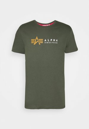 LABEL - T-shirt print - dark olive