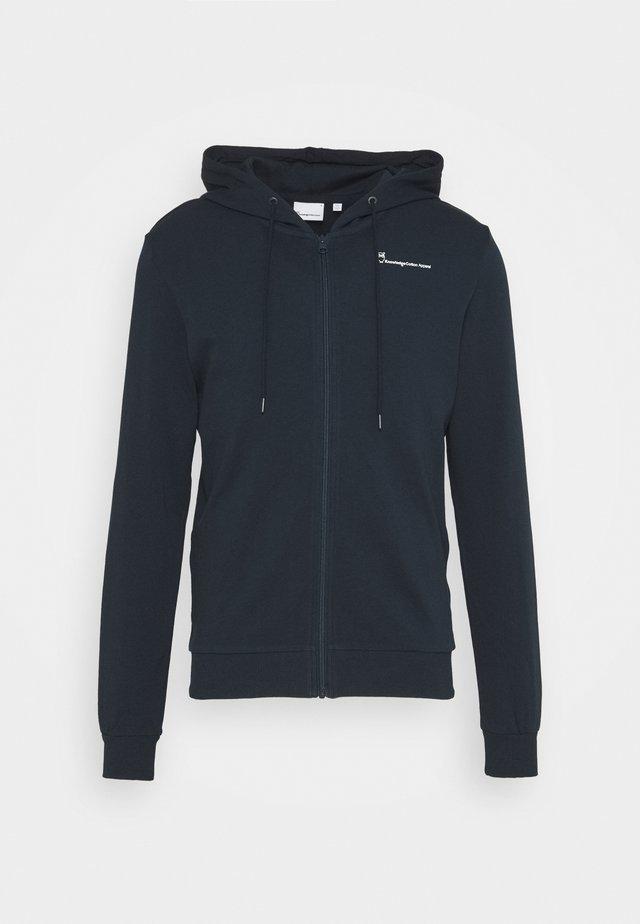 TRANSFER HOOD ZIP - Zip-up hoodie - dark blue