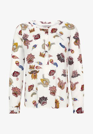 MIT ORNAMENTALEM MUSTER - Blouse - white floral print