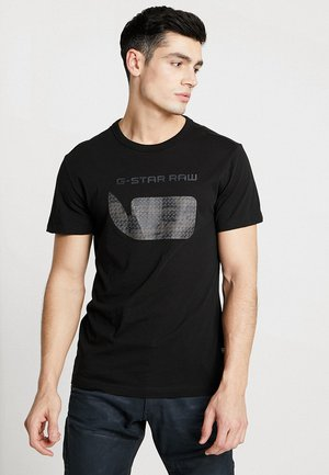 GRAPHIC 07 R T S\S - Print T-shirt - dark black