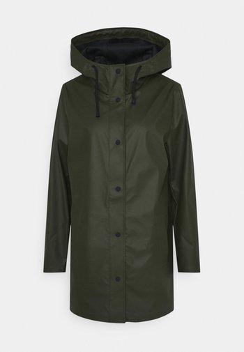 ONLELLEN RAINCOAT - Waterproof jacket - forest night