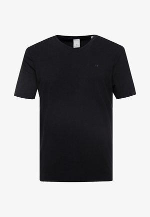 V-NECK TEE - T-shirt basique - black